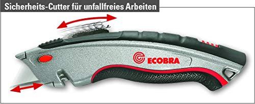 Ecobra 770495 Universal-Sicherheits-Cutter 3 in 1, silber/schwarz