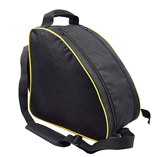 Kunze Skischuhtasche, Reisegepäck, 600D Oxford-Tuch, Doppel-Reißverschluss, Tragetaschen, große Kapazität für Handschuhe, Helm, Brille, Zubehör, praktisch und geräumig, schwarz