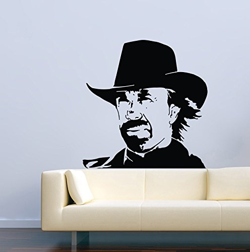 USA Decals4You | Famous Person Wall Decals Movie Film Brutal Chuck Norris Stickers Vinyl Decor Murals MK1158