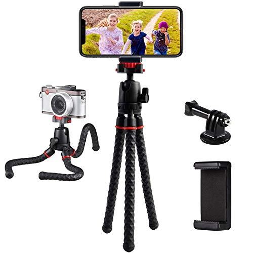 Phone Tripod LINKCOOL 360 Degree Rotation Flexible Octopus Travel Tripod for iPhone/Smartphone/Ipad/DSLR/Sports Action Camera with Bluetooth Wireless Remote Shutter