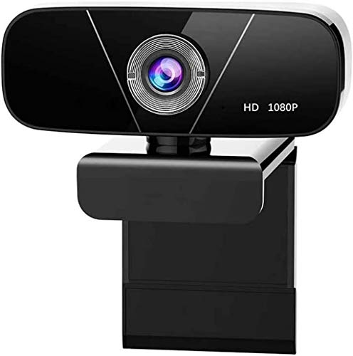 Full HD 1080P Webcam, Rotatable USB Camera with Noise-Reducing Mic for for Live Streaming, Video Calling and Recording Online Teaching Plug and Play