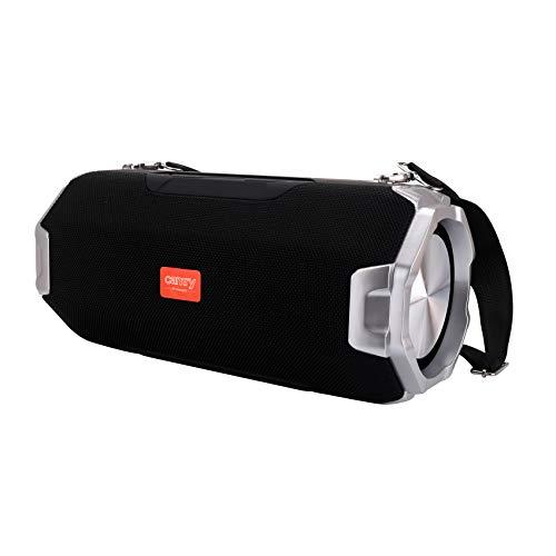 CAMRY CR 1170 tragbarer Bluetooth Lautsprecher, Musikbox, Nest für Micro-SD-Karte, TF, USB, AUX, Box mit Super Bass, Stereo, auch Powerbank, 2 x 30W, Bis zu 10 Stunden, schwarz