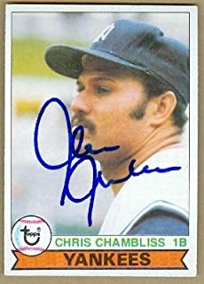 Chris Chambliss autographed Baseball Card (New York Yankees) 1979 Topps Card - Autographed Baseball Cards
