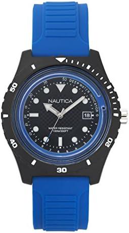 Nautica Men s Ibiza Quartz Sport Watch with Silicone Strap Black 22 Model NAPIBZ002 product image