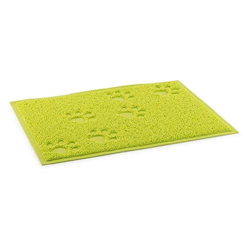 Schuldige Gadgets ® huisdier voedsel mat waterdicht anti-slip wasbare kom voeding voor kat hond - groen