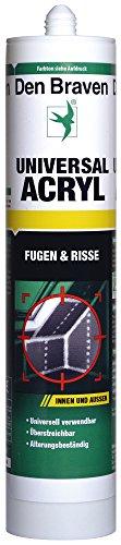 Den Braven Universal Acryl - 20 bis +75 Grad, gute Haftkraft, universelle Anwendung, alterungsbeständig, hochwertiger Dichtstoff, braun, CUA33A501004