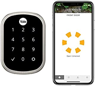 Yale Assure Lock SL, Wi-Fi Smart Lock - Works with the Yale Access App, Amazon Alexa, Google Assistant, HomeKit, Phillips Hue and Samsung SmartThings, Satin Nickel