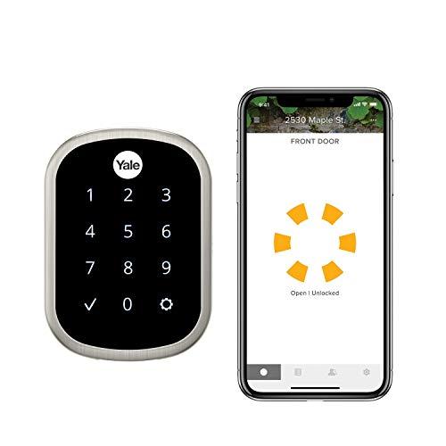 Yale Security - Cerrojo de seguridad con pantalla táctil, Wi-Fi y Bluetooth | Funciona con Amazon Alexa, Asistente de Google y HomeKit
