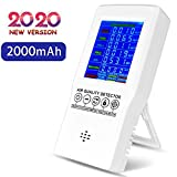 Air Quality Monitor Indoor, Accurate Air Tester Detector for Formaldehyde(HCHO) CO2 TVOC PM2.5/PM10, Home Air Test Kits with Colorful LCD Screen, Suitable for Home Office and Various Occasion