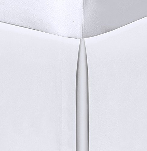 """Spacemaker Extra-Long 21"""" Drop Length Bed Skirt, Twin, White"""