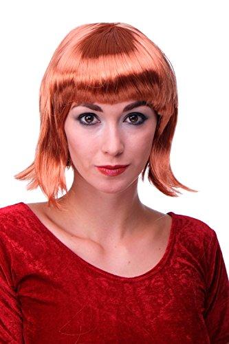 WIG ME UP - Perruque Rouge Cuivré, carré plongeant sexy, style Disco, Go-Go Girl, idéal pour soirée PW0114-P130