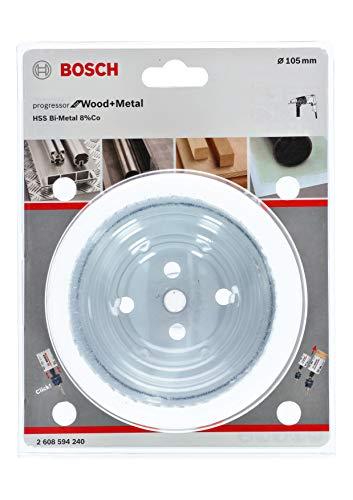 Bosch Professional Lochsäge Progressor for Wood & Metal (Holz und Metall, Ø 105 mm, Zubehör Bohrmaschine)