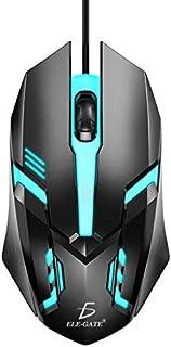 Archy Mouse Alambrico Ergonomico Gamer Gaming Retroiluminado Luz Sensor Optico 3 Botones Negro
