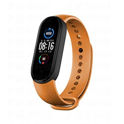 LDJ Band 5 Smart Bracelet Smartband Reloj de pulsera para hombre y mujer, con frecuencia cardíaca, Bluetooth, impermeable, para iOS Android, M