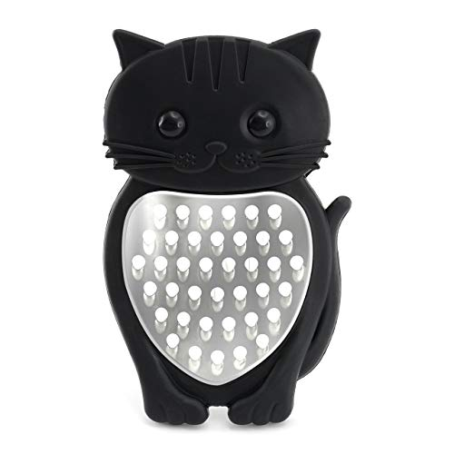 Bar Amigos Cat Rallador de queso – por Bar Amigos – Meow novedad con diseño de gato herramienta de cocina de silicona acero inoxidable verduras frutas queso rallador afilado