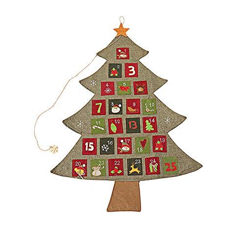 George Kerstkalender, zelfvullend, kerstversiering, als cadeaukalender voor kinderen, meisjes, mannen, volwassenen, kerstdecoratie Small groen