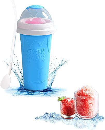 Slushie Maker Cup Squeeze, Slushie Maker for Kids Cup, Squeeze Cup Slushy Maker, TIK TOK Magic Quick Frozen Smoothies Cup Double Layer Cupfor Kids and Family