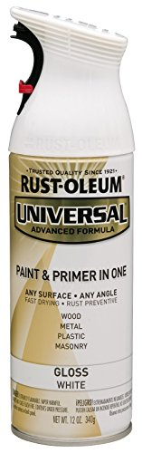 Rust-Oleum 245199 Universal Enamel Spray Paint, 12 oz, Gloss White