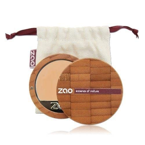ZAO Compact Foundation 729 rosa-elfenbein hell-beige-pink, Kompakt-Makeup Grundierung in nachfüllbarer Bambus-Dose (bio, vegan) 101729