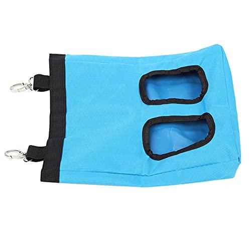 SALALIS Bolsa de alimentación Colgante, Material de poliéster Bolsa de alimentación Colgante Resistente y Duradera para Suministros de Animales pequeños(Azul, 25 * 30 CM)