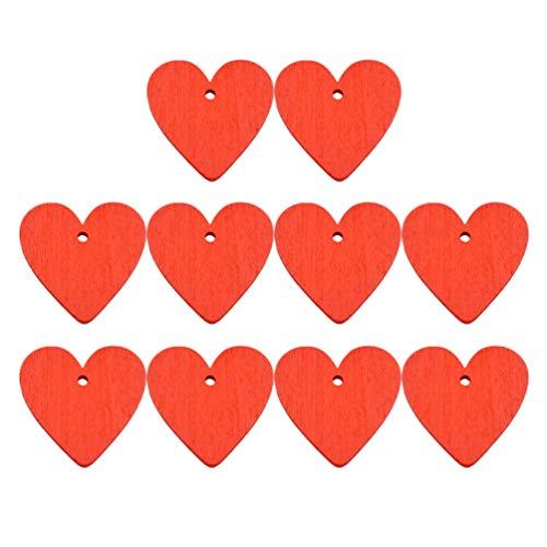 MILISTEN 30 Piezas de Madera sin Terminar con Agujero Y Cuerda Corazón Rodajas de Madera DIY Recortes de Madera Boda Adornos de Madera Etiquetas de Regalo para Adornos de Boda