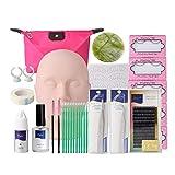 YUNSI Pestañas postizas Kit de Entrenamiento de extensión de pestañas Falsas Práctica de Ejercicios Mannequin Head Set para Mujeres (Color : Type 14)