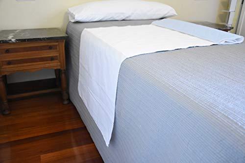 ORTONES | Traversa Incontinenza Adulto Lavabile | 4 strati | Super assorbente 2.25 litri M2 | Dimensioni: 90 x 75 cm, con ali da 75 x 50 | Colore: bianco e blu celeste