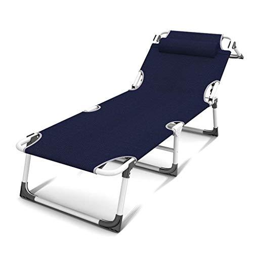 ZTBXQ Cadeau de Sport Balcon Pliable Fauteuils inclinables Pause déjeuner Lit Portable Multifonctionnel Individuel Siesta Chaise de Loisirs Bureau Ménage (Couleur: