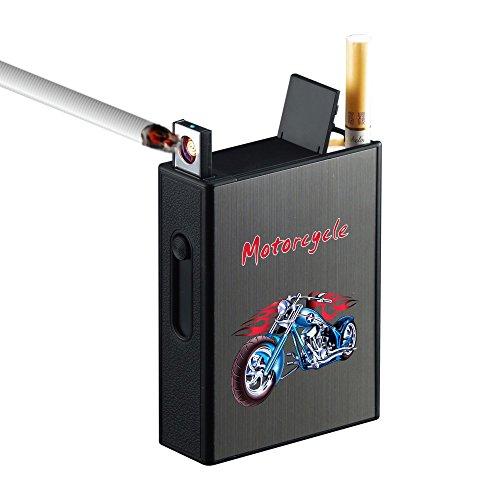 Pitillera metálica encendedor eléctrico USB recargable