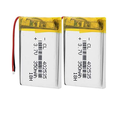 TTCPUYSA Batería Recargable del PolíMero De ión De Litio De 3.7v 350mah 35x25x4mm 402535, con El MóDulo del PCB 2pieces