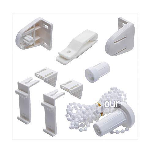 ourdeco Zubehör-Set Klemmfix-Rollos/einfache Montage am Fenster/Klemmen=Montage ohne Bohren=Smartfix=Klemmfix=Easy-to-fix