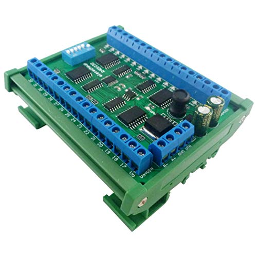 DC 12V 24V 32-Kanal DIN35 C45 Rail Box RS485 Modbus RTU ULN2803A Darlington Transistor Controller SPS E/A-Erweiterungskarte (with Din Rail Box)