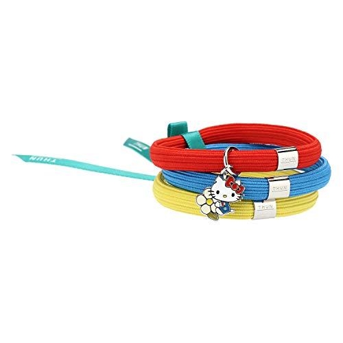 THUN ® - Bracciale elastico colorato Impulse Hello Kitty® THUN con fiore - 16 cm