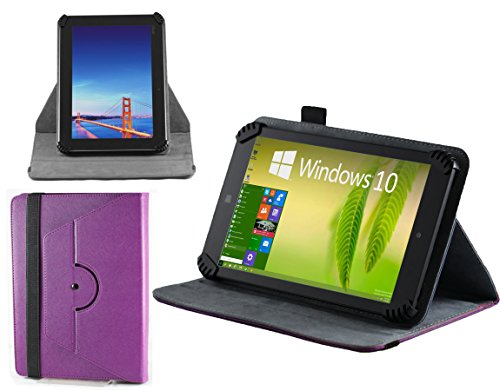 Navitech 7 Zoll lilanes Leder Book Style Folio Case / Cover mit Stylus Pen für das Asus Fonepad 7 (FE170CG) / ASUS Fonepad 7 ME372CL / ASUS Fonepad 7 (FE170CG) / ASUS Fonepad 7 Dual SIM (ME175CG) / ASUS Fonepad 7 (FE375CG) / ASUS Fonepad 7 (ME372CG)