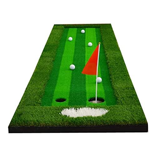 WBJLG Golf Putting Green Mat Golf Training Equipment Indoor Putting Trainer Office Golf Putting Green Outdoor Garden Home Golf Swing Practice Mat Gift for Friends