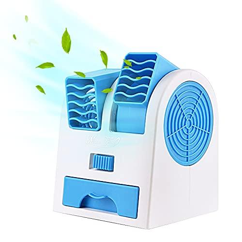 RYUNQ Ventilador para Frigorífico RV, Ventilador Doble Salida para Frigorífico RV Ángulo Ajustable, Aumente el Flujo de Aire del Refrigerador, Mini Ventilador Multifuncional para RV / Hogar, Portátil