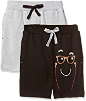 Cloth Theory Boy's Regular fit Cotton Shorts (Pack of 2)