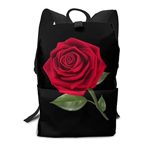 Daybacks,Rose PNG Bookbag, Mochilas Escolares Decorativas para Adolescentes Camping Escolar,40cm(H) x29cm(W)