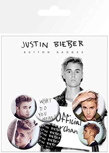 Justin Bieber GB Eye Poster, Mix 3, Button-Set,
