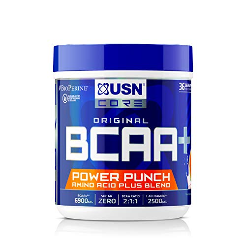 USN BCAA Power Punch Branch Chain Amino Acids BCAA Powder Watermelon 400 g