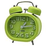 Coolzon Reloj Despertador Doble Campana Clásico de Pilas con Loud, de Silencioso Analógico de Cuarzo sin Hacer Tictac Despertador con Luz Nocturna