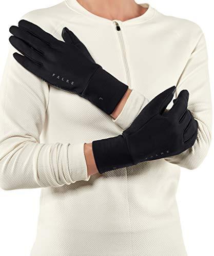 FALKE Unisex, Handschuhe Brushed Funktionsfaser, 1 er Pack, Schwarz (Black 3000), Größe: M