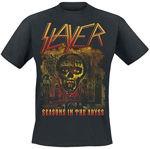 Slayer Seasons In The Abyss Hombre Camiseta Negro, Regular