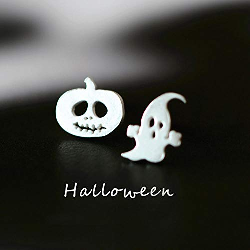 Erin Ghost and Kürbis Ohrringe 925 Sterling Silber Halloween Ohrringe Schmuck Geist Exquisite Ohrstecker