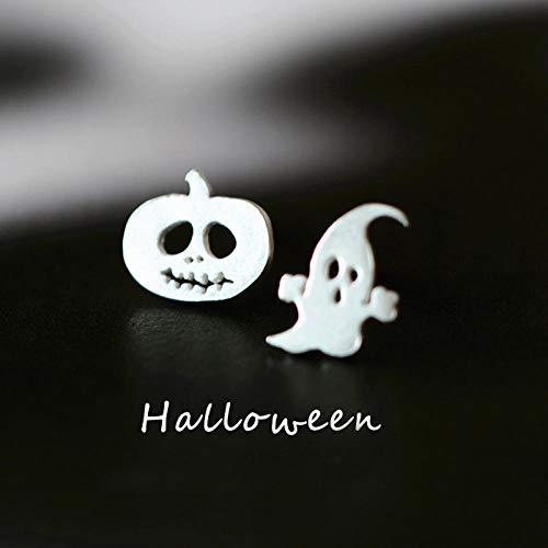 Erin Ghost and Kürbis Ohrringe 925 Sterling Silber Halloween Ohrringe Schmuck Geist Exquisite Ohrstecker