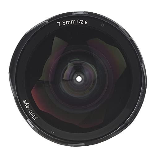 ROMACK Use- Lente Ojo de pez de 180 ° Lente Ojo de pez Viene con Cubiertas de Lente y Herramientas, para cámara sin Espejo(Fuji FX Port)