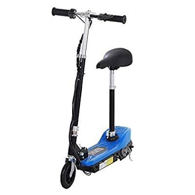 HOMCOM Electric E Scooter Ride on Battery Kids Children Toys Scooters 120W Motor 2 x 12V (Blue)