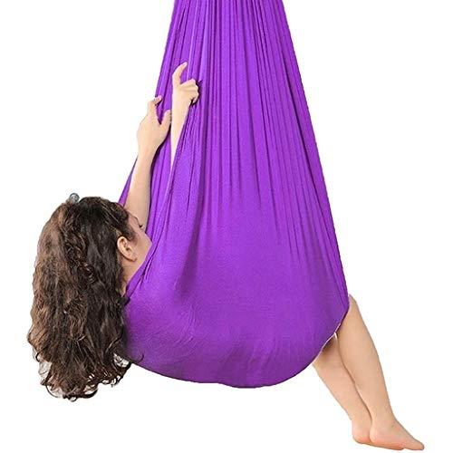 IFOLAINA Columpio De Terapia Interior para Niños Y Adolescentes Hamaca Suave con Necesidades Especiales para Niños Yoga Integración Sensorial Camping Al Aire Libre