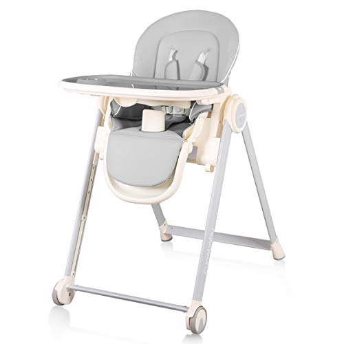 Cynebaby High Chair for Babies and Toddlers, Space Saver High Chair for Baby Multifunctional Baby Feeding Chair with Adjustable Tray Easy to Clean