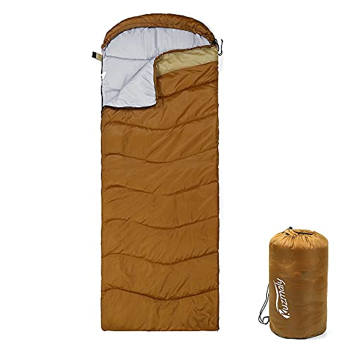 Kuzmaly Camping Sleeping Bag 3 Seasons Lightweight &Waterproof with Compression Sack Camping...